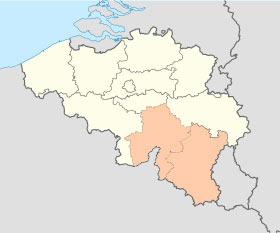 carte province namur et luxembourg
