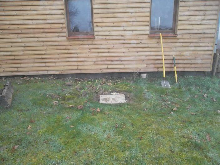 Après inspection vidéo, on s'aperçoit que les tuyaux sont écrasés. Il faut ouvrir le sol.